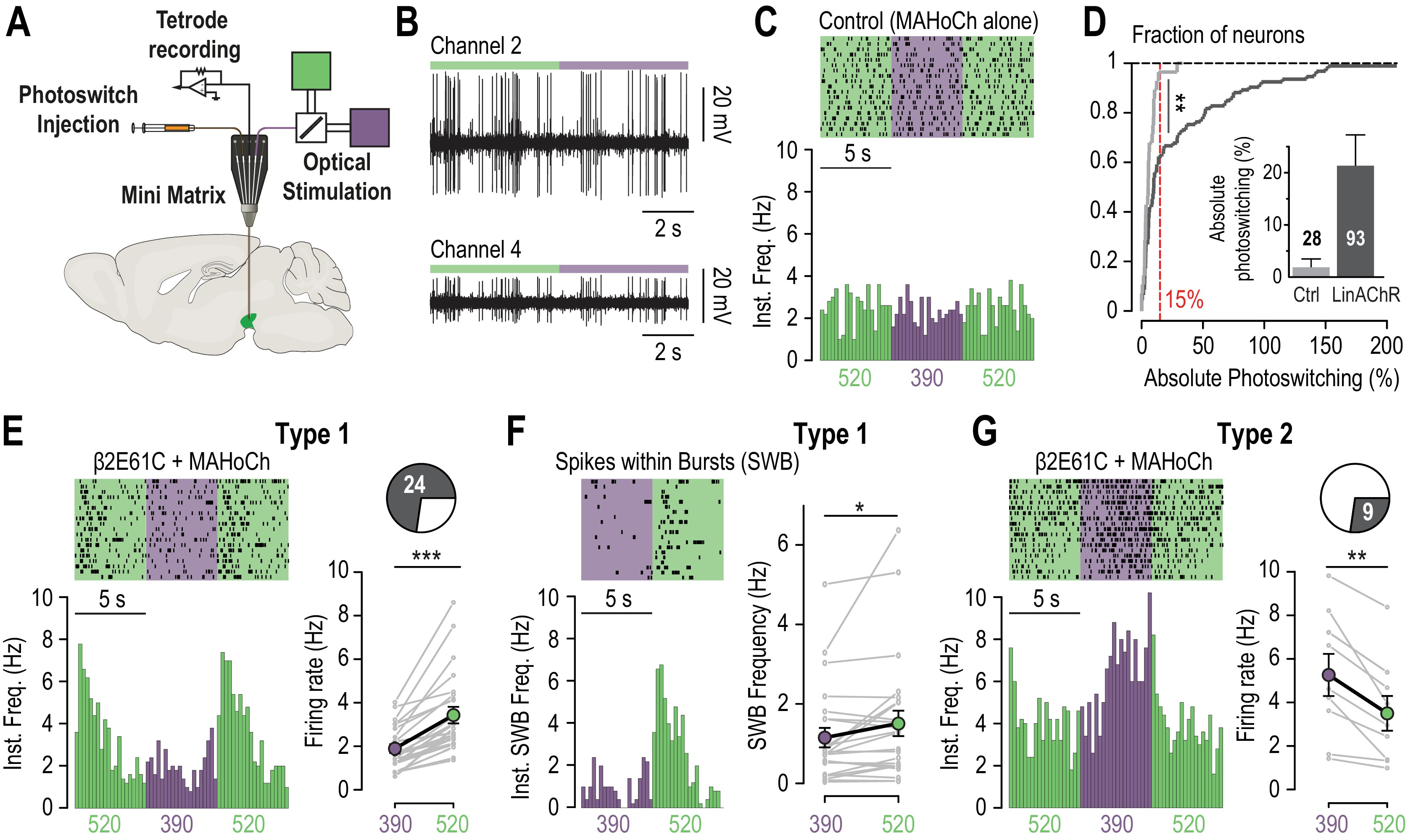 Manipulating Midbrain Dopamine Neurons And Reward Related Behaviors With Light Controllable Nicotinic Acetylcholine Receptors Elife